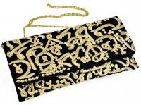 Fully handmade bag arabic writing-black and gold 17*30 cm