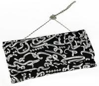 Fully handmade bag arabic writing-black and silver 17*30 cm