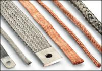 Flexible braided copper strip, connector, hose, flat