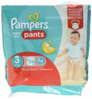 Pampers Pants Baby Dry 26pcs	Size 3 [NL/F/D/UK]