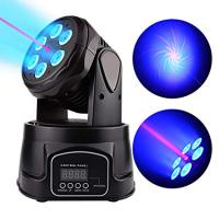 Lixada 4PCS LED Head Moving Light Rotating Moving Head DMX512 Sound Activated Master-slave Auto Running 11/13 Channels  RGBW Color Changing Beam Light for Disco KTV Club Party_3