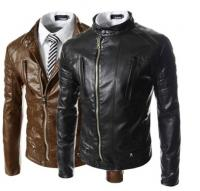 Men leather jacket 100% cow leather