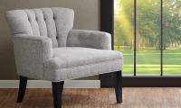 Gianna Light Grey Tufted Club Chair