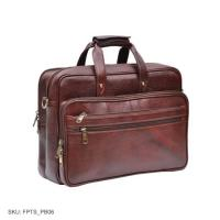 Leather brown weekender portfolio bag