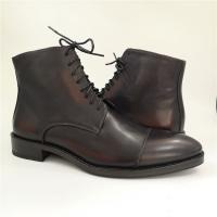Handmade men goodyear boots made of full genuine leather_5