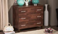Oak Brown Finish 3, 4 or 5 Drawer Wooden Storage Chest