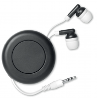 Retractable earphones