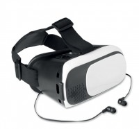 Virtual reality glasses with bluetooth earphones