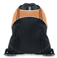 Drawstring bag in 600d polyester with nylon