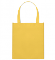 Nonwoven heat sealed shopping bag with short handles