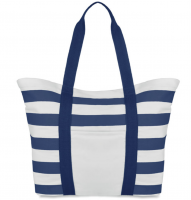 Beach Bag in Canvas with Stripes