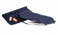 Travel set:velvet inflatable pillow,eye mask