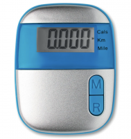 Pedometer with clip in abs casing