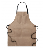 Apron in waxed canvas