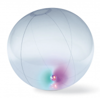 Inflatable ball with light inside