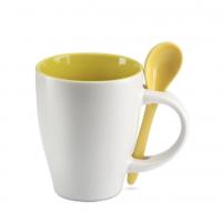 Bicolour ceramic coffee mug