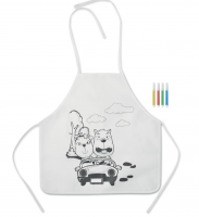 Non woven kids apron with 4 markers.