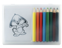 Colouring set in clear box