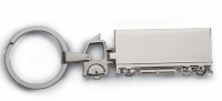 Truck shaped metal key ring