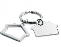 Metal Key Ring in House Shape