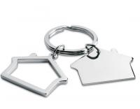 Metal key ring in house shape