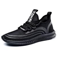 Fashion flyknit mesh hollow breathable soft men's height increasing elevator sport shoes sneaker get taller 2.16 inches