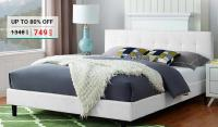 Linen Upholstered Platform Bed from AED 749
