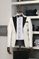 Peak Lapel 3 Piece White Tuxedo l Clothing Supplier