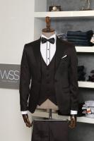 Claret red and black tuxedo for men | clos