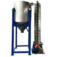 Vertical lifting flexible screw feeder