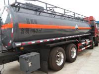 Corrosive cargo tanker truck