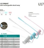 Led rechargeable desk lamp - u17