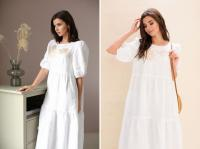 Stylish linen dress
