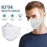 Careful Queen KF94 Face Mask Triple Filter Medical Mask 94% Filtration Adaptable Nose Bar Soft & Breathable Non-woven Fabric Earloop Mouth Face Mask,1PC