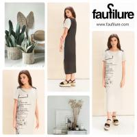 Eco-friendly 100% linen stylish dress