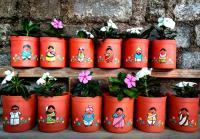 Terracotta pots, Hand made design planter pot , Flower vase