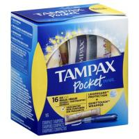 Wholesale Tampax Pocket Pearl Regular Absorbency with LeakGuard Braid & Unscented Plastic Tampons - 16ct_3