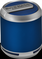 WHOLESALE DIVOOM PORTABLE SPEAKER : BLUETUNE SOLO BLUE - X-BASS Bluetooth