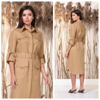 Eco-friendly 100% linen office dress wholesale