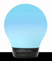 WHOLESALE DIVOOM LIFESTYLE SPEAKER : AURABULB BLUETOOTH 4.0 SMART MUSIC LAMP: 5 WATTS :1200MAH :BLACK