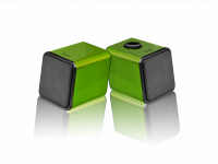 WHOLESALE DIVOOM LAPTOP SPEAKER : IRIS-02 GREEN Stereo 2.0 USB speaker system