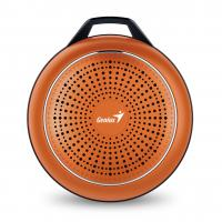 WHOLESALE SPEAKER : SP-906BT PLUS 10 HOURS PLAY TIME, 780MAH BATTERY WITH CARABINER LINE IN CABLE, FLAME ORANGE