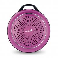 WHOLESALE SPEAKER : SP-906BT PLUS 10 HOURS PLAY TIME, 780MAH BATTERY WITH CARABINER LINE IN CABLE, CRANBERRY MAGENTA