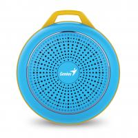 WHOLESALE SPEAKER : SP-906BT, 5 HOURS PLAY TIME, 500MAH BATTERY WITH CARABINER - BRIGHT BLUE
