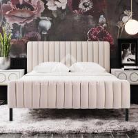 Channel Upholstered Bed | Beds Furniture UAE