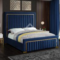 Glam Velvet Bed | Beds Furniture Store