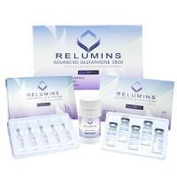 Relumins Advanced IV Glutathione 3500mg Set- Glutathione and Vitamin C PLUS BOOSTER