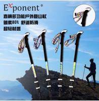 Straight handle multi-function outdoor climbing stick