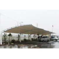 One - way membrane structure parking shed