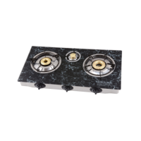 Marble Texture Glass Top Gas Stove with 3 Burners GT-723